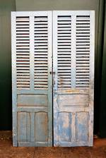Large Light Blue French Antique Shutters - Doors $1350.00 pr
