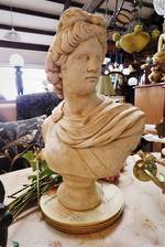 Roman Bust Concrete Statue Reproduction $325