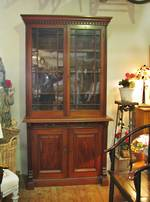 English Mahogany Chiffonier Bookcase