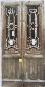 Pair of Doors with Nice Iron Work