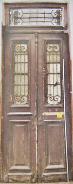 Antique French Wooden Doors With Iron Grilles $3500 pair