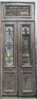 Antique French Door with Wrought Iron Panels $3500 pair