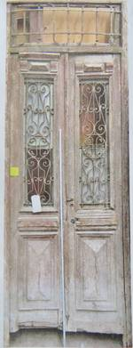 French Antique Door with Wrought Iron Panels $2500 pair