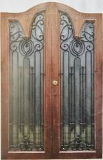 French Doors, Wood & Iron $1950 pair