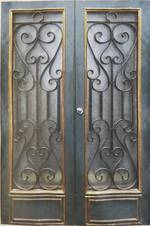 Wrought Iron Entrance Way Doors new $1950 pair