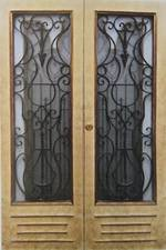 Wooden & Wrought Iron Doors $1950 pair