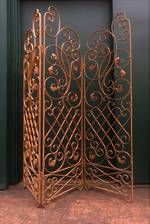 French Wrought Iron Garden Screen $1500 Location Shop