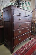 English Oak Chest of Drawers 18thC with Secret Compartment! $3950