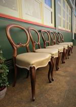 Set of 6 Victorian Balloon Back Dining Chairs $2100.00 set