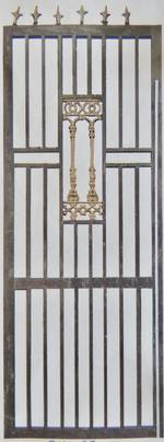 Set of 4 Gold & Black Door Grills