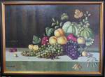Victorian Oil Painting, Still life