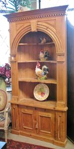 English Baltic Pine Corner Cabinet Reproduction