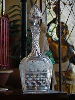 Early Engraved & Cut Crystal Decanter