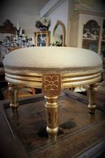 Gilt Italian Foot Stool Reproduction