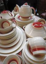 Outstanding Art Deco Susie Cooper Dinner & Tea Service  73 pieces $950