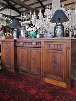 Huge Solid Carved Scottish Sideboard With Cellarette, Lockable $3950