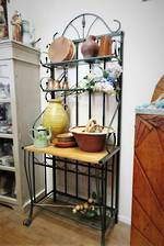 French Style Wrought Iron kitchen Stand with wine rack! $1450