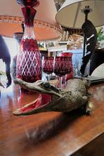 Vintage Taxidermy Baby Crocodile