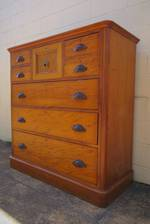 An Exceptional Mottled Kauri & NZ Timbers Colonial Scotch Chest of Drawers $3500
