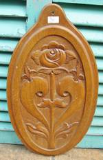 Carved Oak Art Nouveau Panel