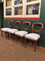 Mahogany Victorian balloon back Dining Chairs