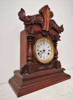 American Style Antique English Mahogany Clock $495