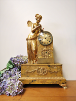 Phenomenal Guilded Bronze & Marble French Figural Clock $5950