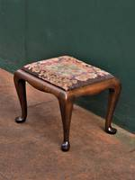 Antique Tapestry Foot Stool $295