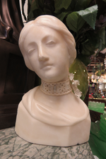 Hand Carved Marble Bust A/F $325