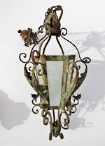 Outdoor lighting yvonne sanders antiques ltd auckland furniture antique hand made wrought iron french outside hanging light aloadofball