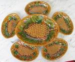 French Majolica Desert Set