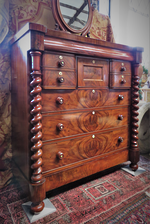 Magnificent Cuban Flame Mahogany Chest of Drawers $3750