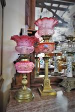 Large Antique Electrified Kero Lamp $950