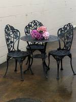 Vintage Patio, Bistro or Cafe Set - Black Ivy $950 4 Piece Set
