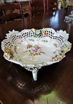 Early Meissen Floral Encrusted Porcelain Centerpiece