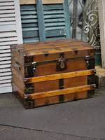 19th Century Saratoga or Carriage Trunk $750