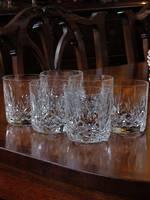 Waterford Cut Crystal Whiskey Tumblers x 6