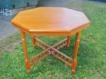 Octagonal  Antique NZ Kauri Table $950