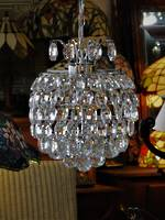 High Purity Multi Crystal Spherical Chandelier in Chrome Finish