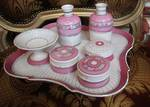 Antique Porcelain Dressing Table Set