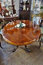 Inlaid Walnut Victorian Oval Loo Table $2950