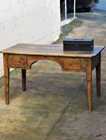 Early Spanish Provincial Pine Desk $2250.00