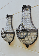 French Half Basket Wall Brackets $1250pr