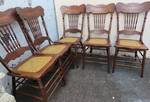 Antique Canadian Spindle Back Chairs x 5