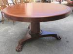 Handsome Antique Regency Mahogany Pedestal Table $2500
