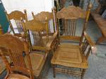 Set of Antique Canadian Spindle Back Chairs