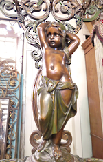 Huge Bronze & Iron Coat Stand 'Cosette'  by Coalbrookdale  circa 1854 $25,000.00
