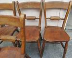 Set of 4 Antique Oxford Chairs, Unique style
