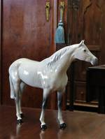 Large Dappled Gray Beswick Race Horse $550