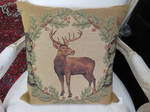 Belgium Tapestry Standing Deer Cushion